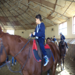 The students enjoyed their Horse Riding lesson