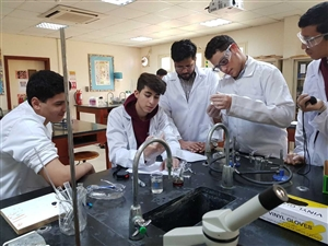 Science practical lesson- Boys Section