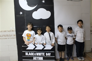 Black and white activity